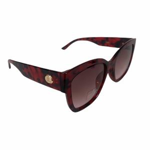 Judith Leiber Sunglasses Red and Black Frame